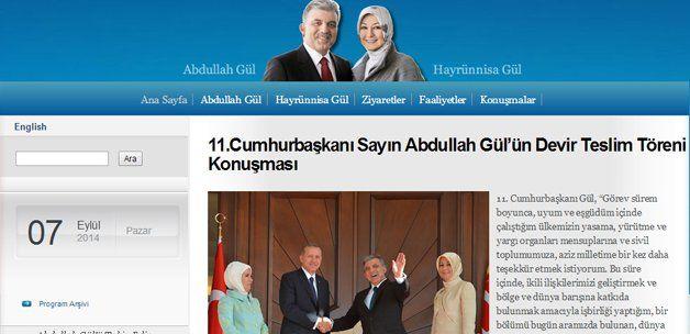 Abdullah Gül kişisel internet sitesi açtı