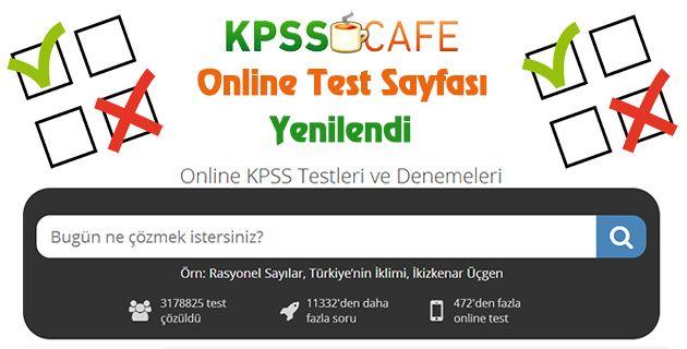 Online Test Sayfamız Yenilendi