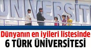 6 üniversitemiz ilk 400 arasında