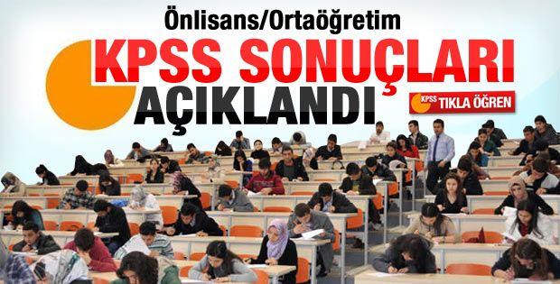 2014 KPSS ortaöğretim/ön lisans sonuçları açıklandı