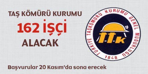 Türkiye Taş Kömürü Kurumu 162 işçi alıyor