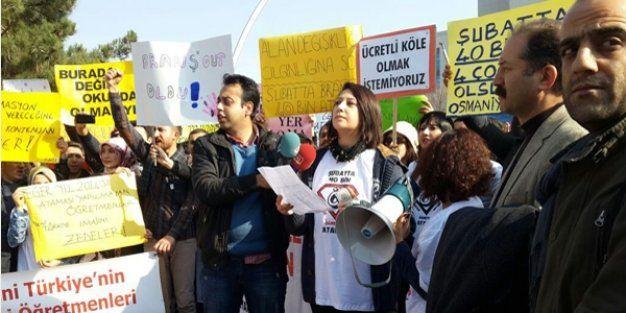 Ataması Yapılmayan Branş Öğretmenleri Eylem Yaptı
