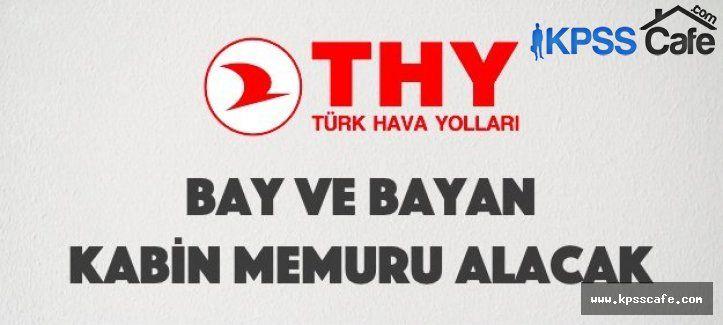 Türk Hava Yolları Bay ve Bayan Kabin Memuru Alımı 2015