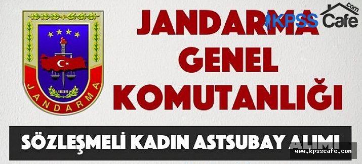Jandarma Genel Komutanlığı Sözleşmeli Kadın Astsubay Alım İlanı
