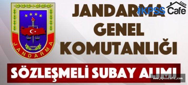 Jandarma Genel Komutanlığı Sözleşmeli Subay Alım İlanı 2015