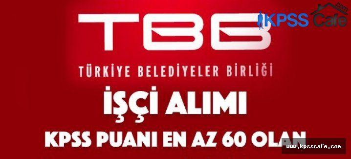 Türkiye Belediyeler Birliği İşçi Alım İlanı 2015