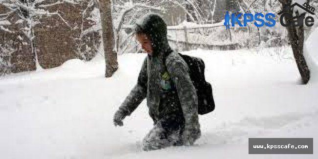 Bazı illerde okullar kar tatili