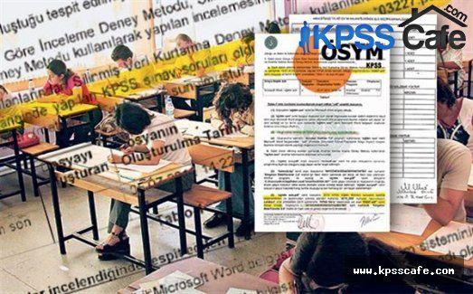 KPSS Sorularını bu kişiler sızdırdı iddiası