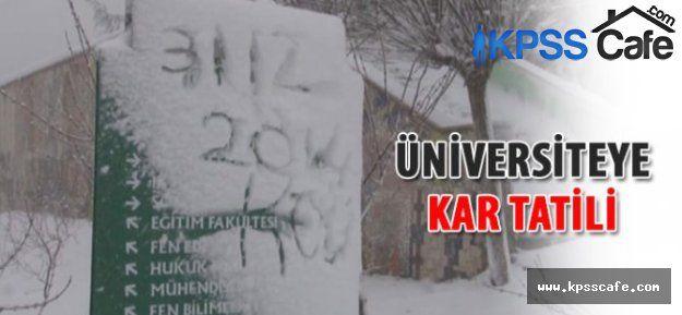 Üniversite Eğitimine Kar Engeli