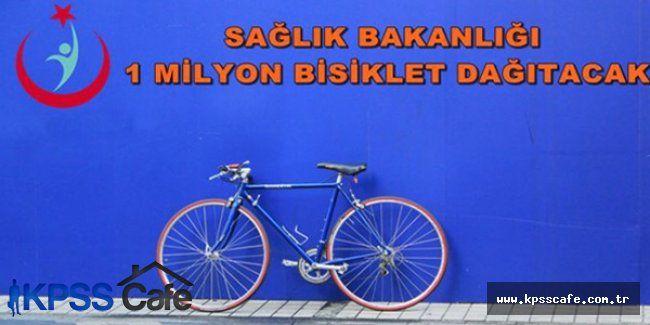 Sağlık Bakanlığı ücretsiz 1 milyon bisiklet dağıtacak
