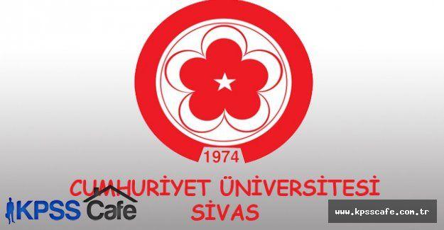 Cumhuriyet Üniversitesi Sözleşmeli Personel Alacak
