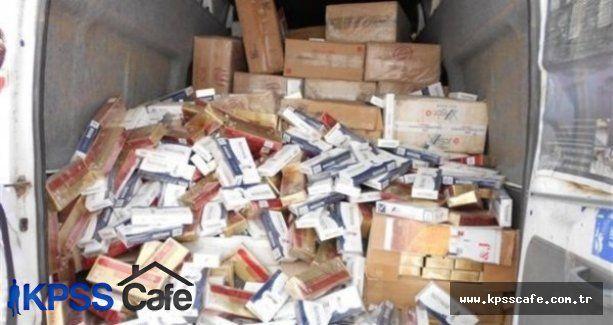 İstanbul'da 18 bin paket kaçak sigara yakalandı