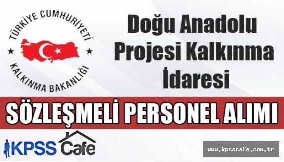 DAP Kalkınma İdaresi Sözleşmeli Personel Alıyor