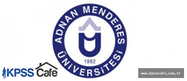 Adnan Menderes Üniversitesi Sözleşmeli Personel Alacak