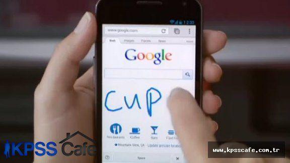 Google el yazısıyla arama yapıyor