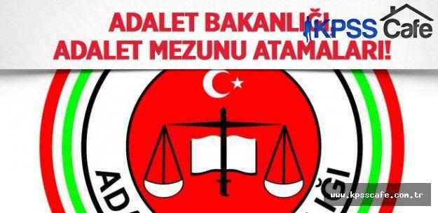 Adalet Bakanlığı Atamalarda Adalet Bölümüne Öncelik Vermelidir!