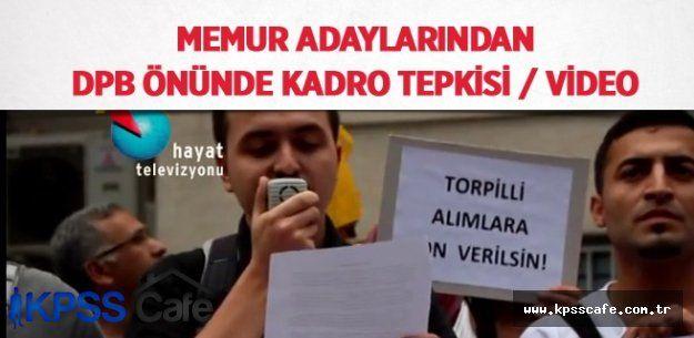Memur adaylarından DPB önünde kadro tepkisi /VİDEO