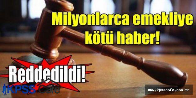 Emeklilere mahkemeden intibak şoku
