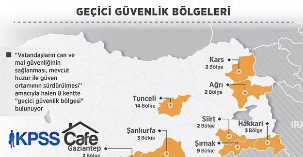 Geçici güvenlik bölgeleri, huzur ve güven için ilan ediliyor