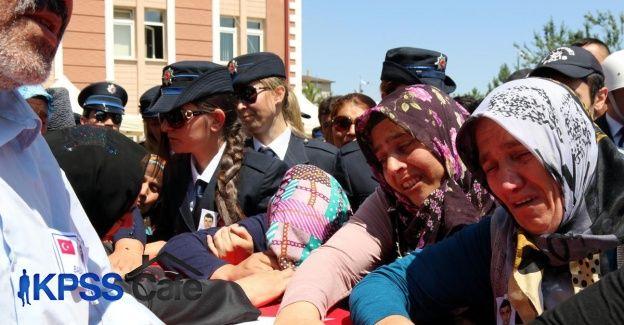 Şehit polis memuru Demir son yolculuğuna uğurlandı