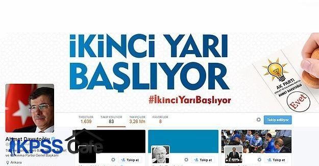 Davutoğlu, Kılıçdaroğlu'nu Twitter'dan takip etmeye başladı