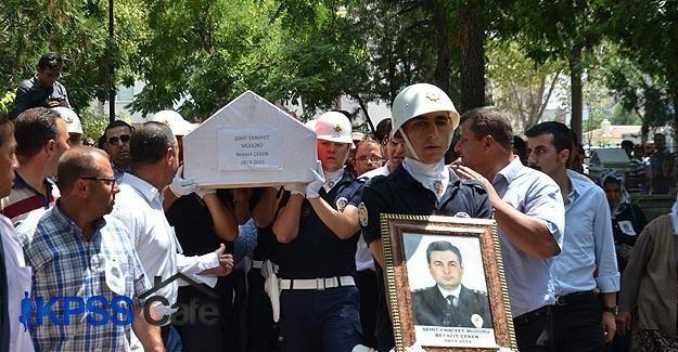 Şehit Polis Müdürü Çeken'in cenazesi toprağa verildi