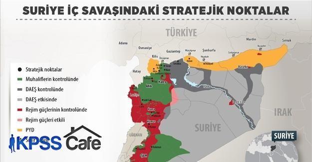 Suriye'de stratejik noktalarda üstünlük savaşı