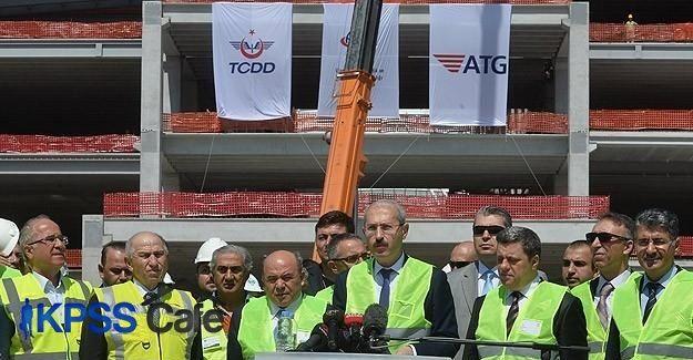 'Yeni Ankara YHT Garı'nda yüzde 54 ilerleme sağlandı'