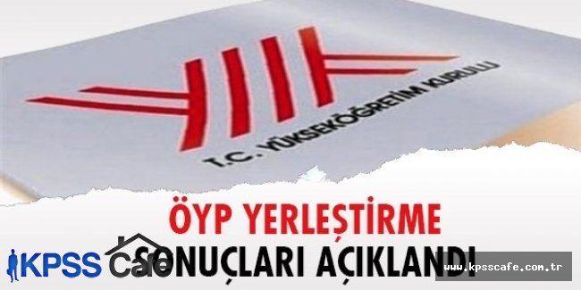 2015 ÖYP yerleştirme sonuçları ve en küçük en büyük puanlar