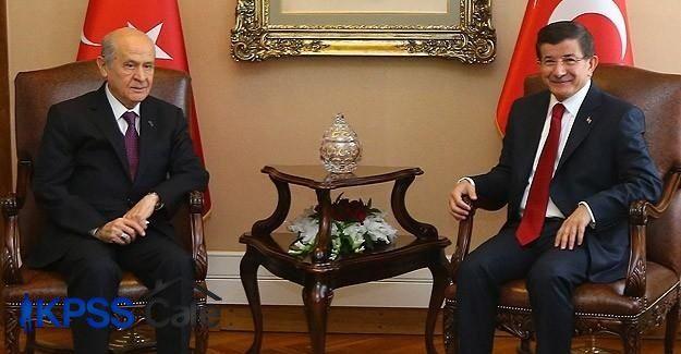 Davutoğlu ile Bahçeli'nin görüşme tarihi belli oldu