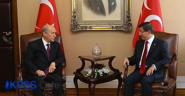 Başbakan Davutoğlu ile Bahçeli görüşecek