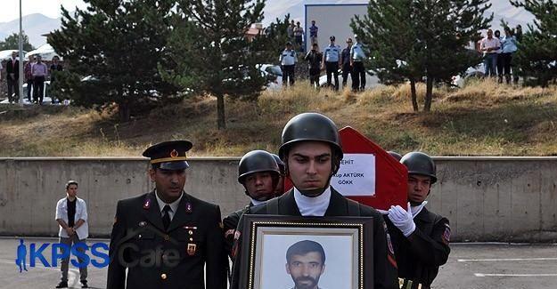 Şehit düşen köy korucusu Aktürk için tören düzenlendi