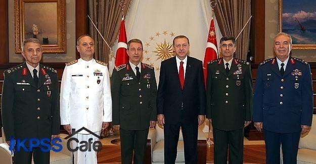 Erdoğan yeni komutanları kabul etti