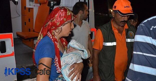 Karaman'da 45 kişi barajda 7 saat mahsur kaldı