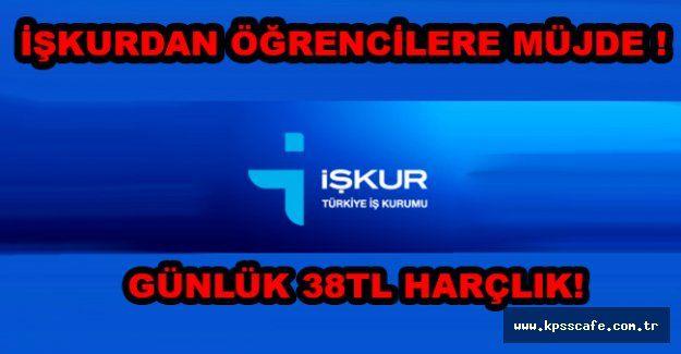İşkur'dan Günlük 38TL Harçlık!