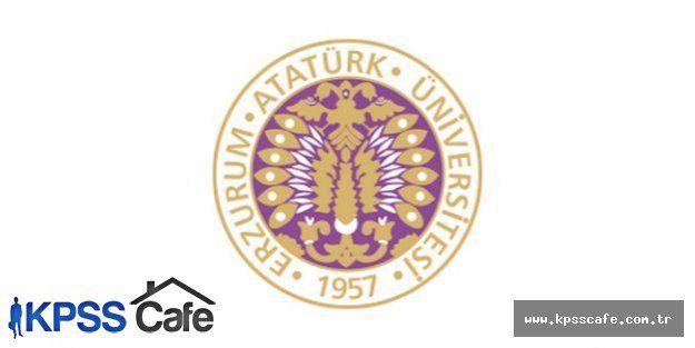 Atatürk Üniversitesi Sözleşmeli Personel Alacak