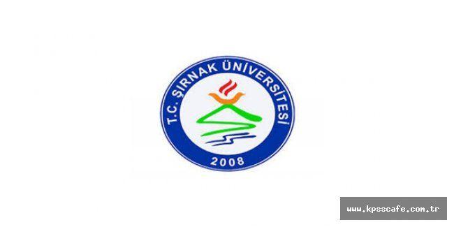 Şırnak Üniversitesi Öğretim Üyesi Alacak