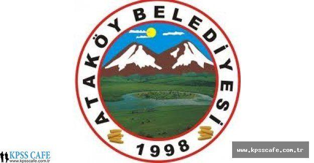 Tokat Ataköy Belediyesi İşçi Alacak