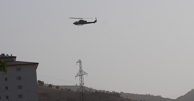 Şırnak'ta teröristlere hava destekli operasyon