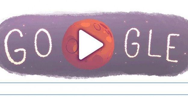 Google'dan Mars'a özel logo