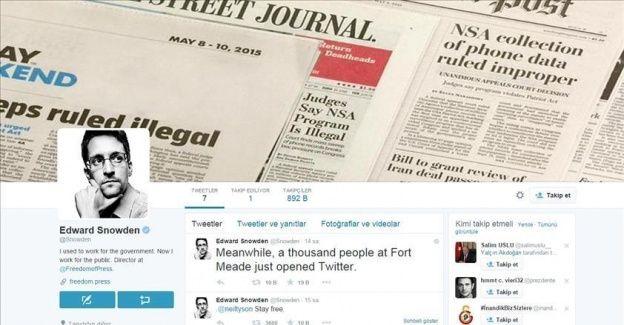 Snowden Twitter'da saatler içinde 900 bin takipçiye ulaştı