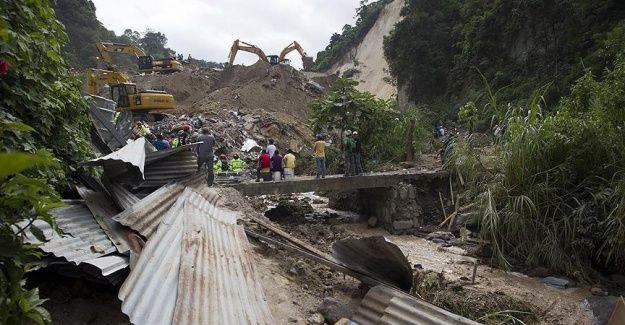 Guatemala'daki heyelan şimdiye kadar 131 can aldı