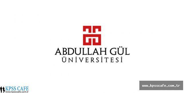 Abdullah Gül Üniversitesi yardımcı doçent alım ilanı
