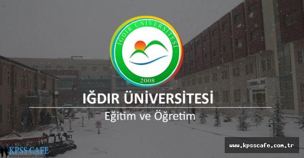 Iğdır Üniversitesi Öğretim Elemanı Alım İlanı