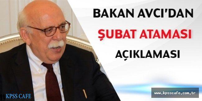 Nabi AVCI'dan Şubat Öğretmen Atama Sayısı Açıklaması
