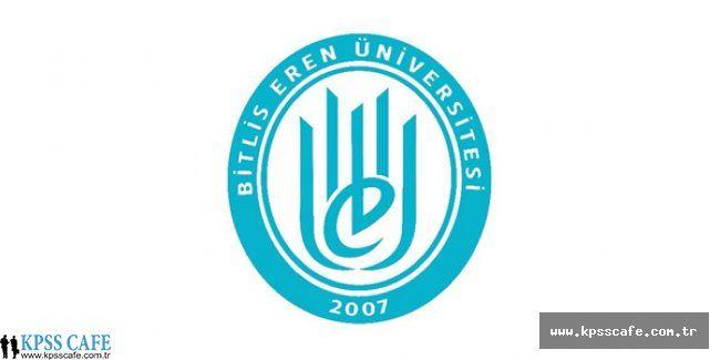 Bitlis Eren Üniversitesi Öğretim Üyesi Alacak
