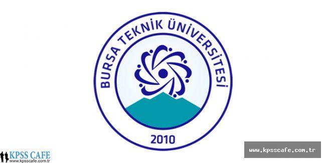 Bursa Teknik Üniversitesi Öğretim Üyesi Alım İlanı