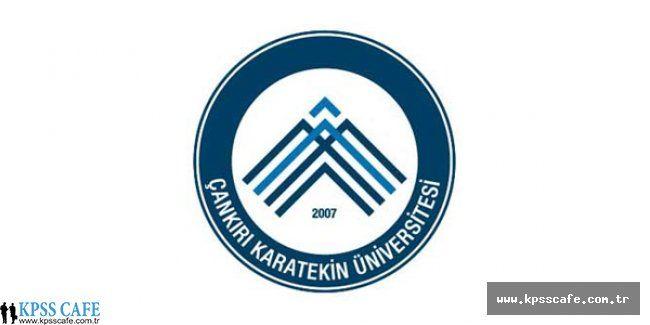 Çankırı Karatekin Üniversitesi Öğretim Üyesi Alım İlanı