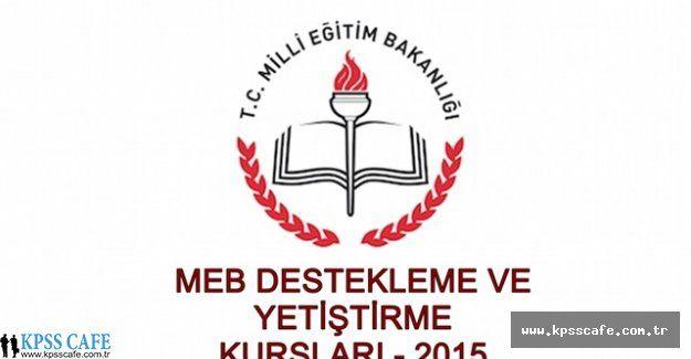 MEB Destekleme Kursu Yönergesinin Son Hali