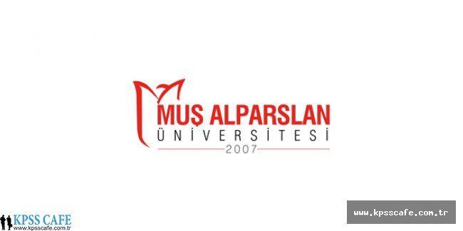 Muş Alparslan Üniversitesi Akademik Personel Alım İlanı